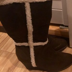 Boot wedges! Size: 6, Old Navy, Never worn!  Brown